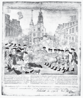 Paul Revere, The Bloody Massacre perpetrated in King Street Boston on March 5th 1770 by a party of the 29th Regt. (Boston, 1770).